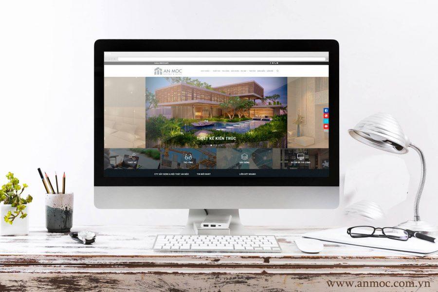 Website Thiết kế và Thi công nội thất An Mộc
