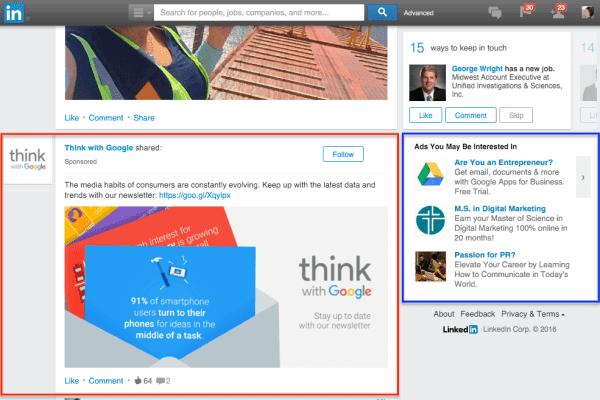 quảng cáo LinkedIn