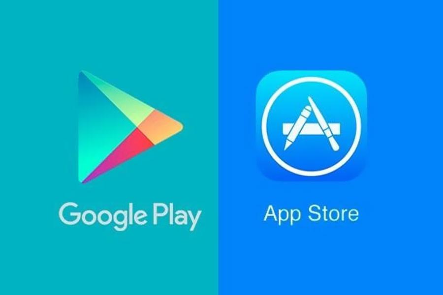 kho Google Play và App Store