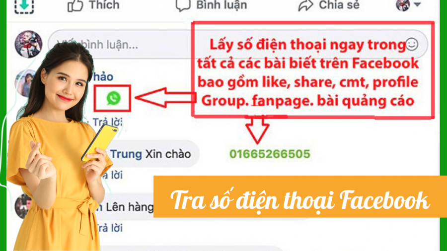 tra số điện thoại từ facebook comment
