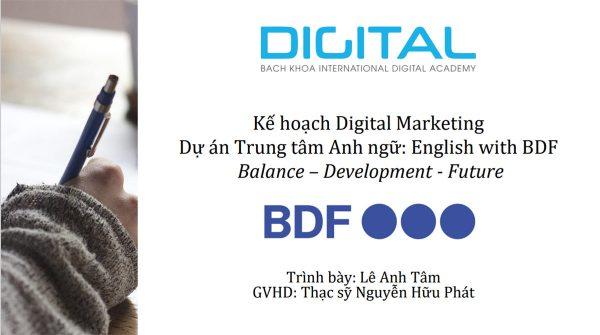 Digital Marketing trung tâm tiếng Anh