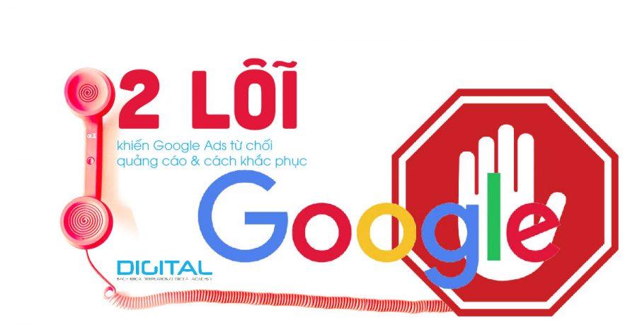Google Ads từ chối quảng cáo