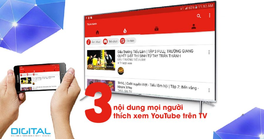 xem tv trên youtube