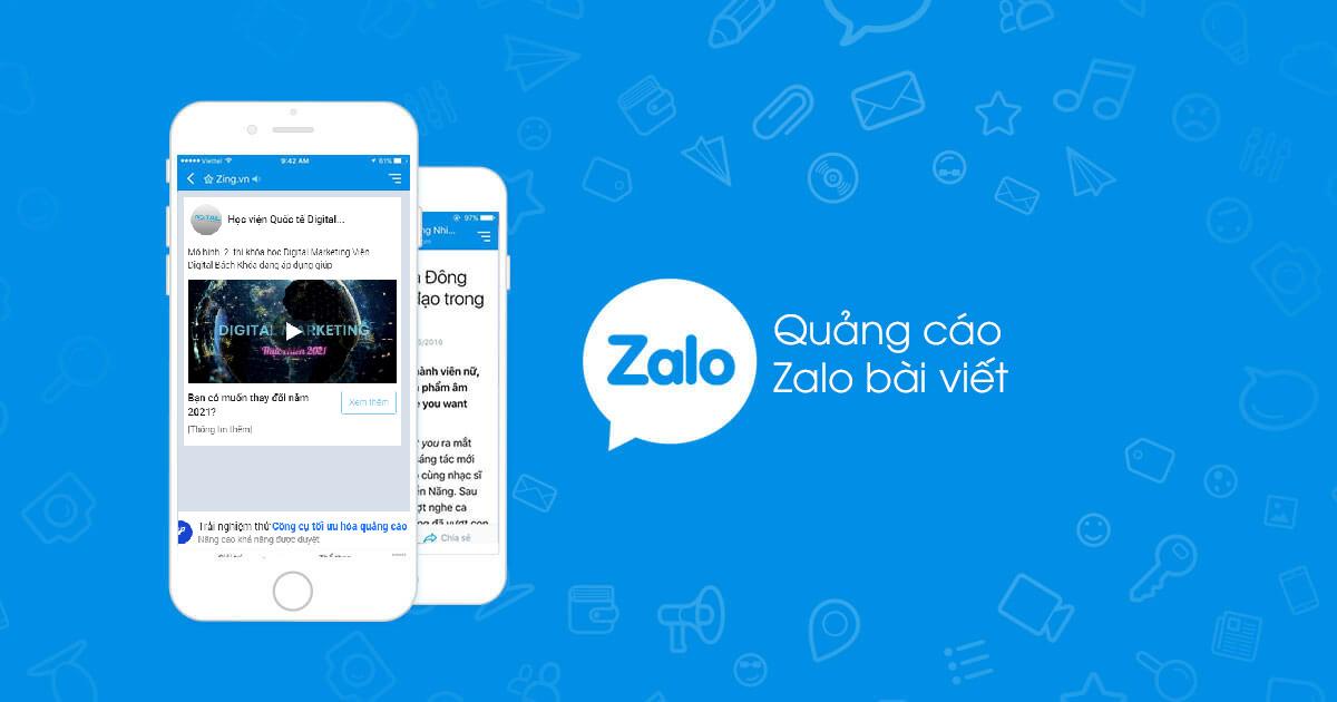Quảng cáo bài viết trong Zalo Ads