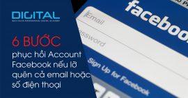 Phục hồi account facebook